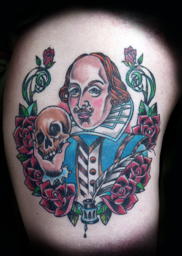 Therefore I was very happy to find Contrariwise a blog of literary tattoos