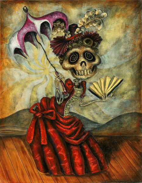 day of the dead art women. Posted in art, undead with