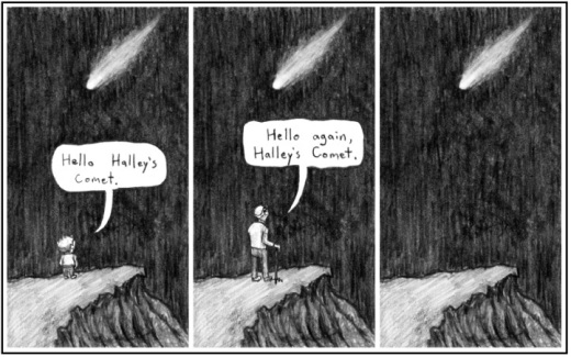 Halley s comet comic shewalkssoftly for Minimalist living a meaningful life pdf