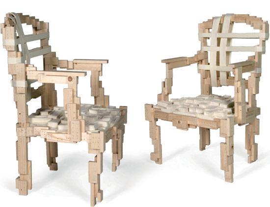 uncomfortable furniture week pixelated chair shewalkssoftly