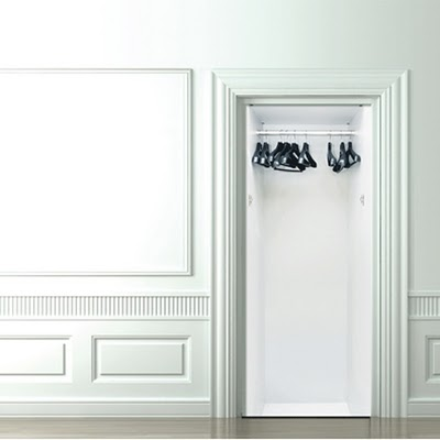 trompe l oeil door stickers shewalkssoftly. Black Bedroom Furniture Sets. Home Design Ideas