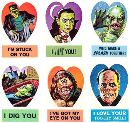 Vintage Valentines Monsters and Undead – Monster Valentine Cards