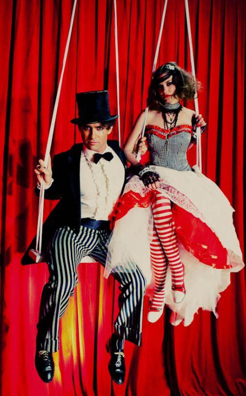 Vintage halloween decorations - Dark Circus Wedding Shewalkssoftly