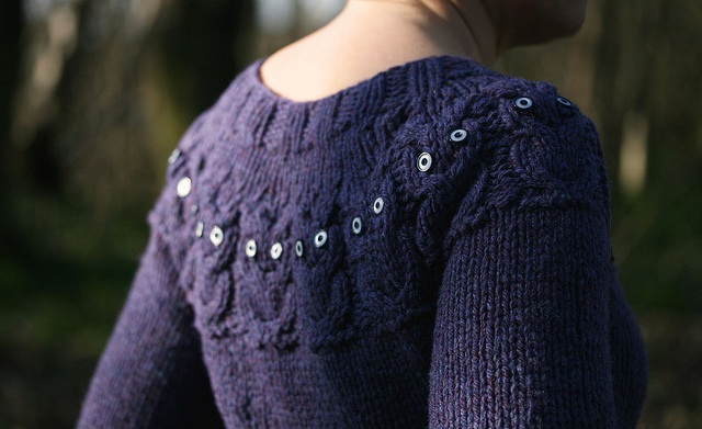 Knitting Pattern For Owl Jumper : Owl Sweater SheWalksSoftly