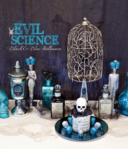 Halloween Countdown Evil Science Black And Blue Decor Shewalkssoftly