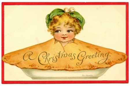 Christmas pie girl GraphicsFairy004b