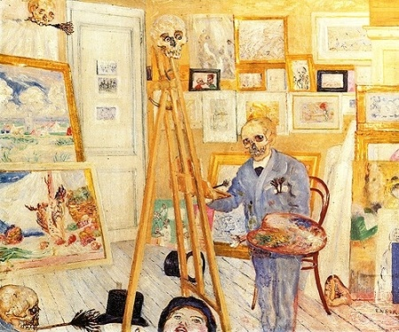 James Ensor, The Skeleton Painter, 1896