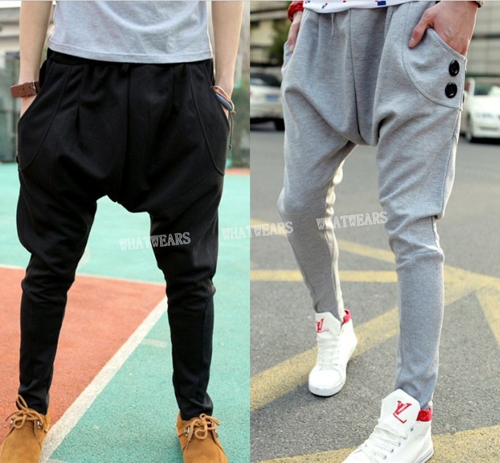 I Dont Get Fashion Drop Crotch Slim Harem Pants Shewalkssoftly