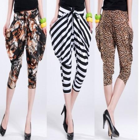 Fashion-2012-summer-new-arrival-casual-leopard-print-stripe-harem-pants-knee-length-trousers-loose-pants