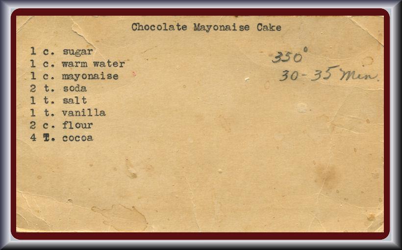 Cake with mayonnaise recipe
