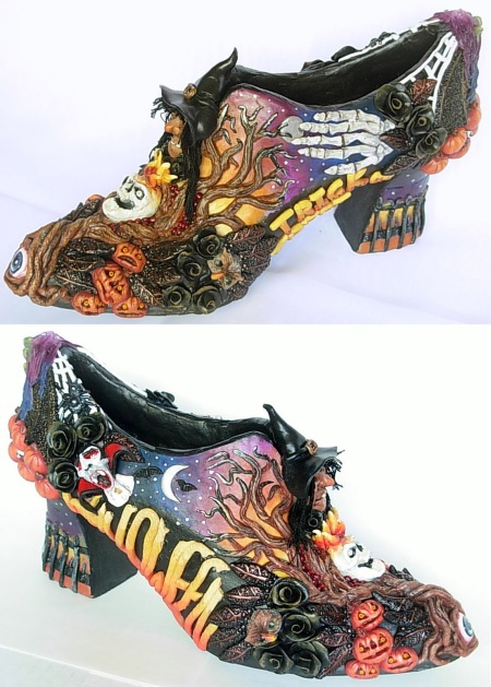 Halloween shoe combo view for deviantart