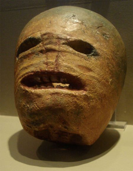 raditional (and utterly terrifying) Halloween turnip jack-o-lantern carved in Ireland in the early 20th century. Note the horrifying teeth.