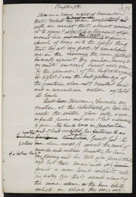 manuscript-frankenstein