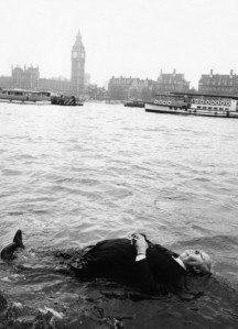 Hitchcock, floating in The Thames