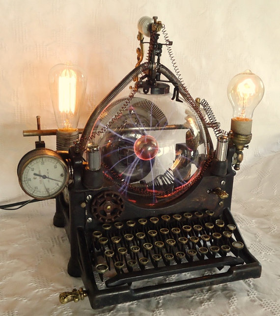 steampunk lampe mountain lamp design lampen
