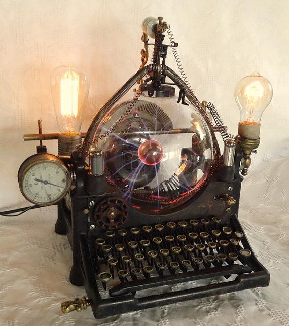Steampunk Mountain Lamp