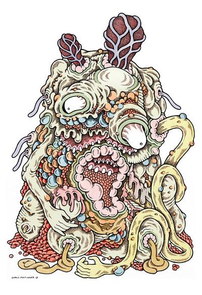 Gelatinous Creased Lesion - Chris Pottinger www.TASTYSOIL.com