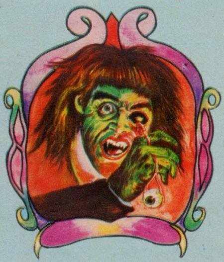 1976 Super-Gruesome Iron-On Gory Eye Vampire