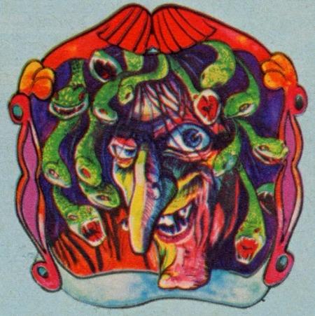 1976 Super-Gruesome Iron-On Medusa