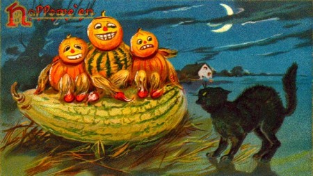 Halloween Postcard Wallpaper