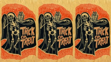 Trick or Treat Skeleton Wallpaper