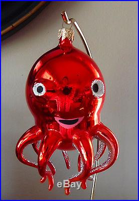 RET_VINTAGE_Radko_MAXINE_Octopus_in_Red_Christmas_Ornament_Italian_Made_01_eh