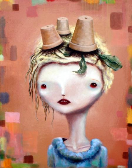 lady+spring,+acrylic+on+canvas,+24x30